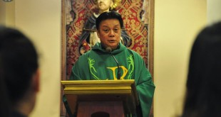 Regent Rodel Aligan O.P. delivers his homily in the commemoration mass for Maguindanao massacre victims.