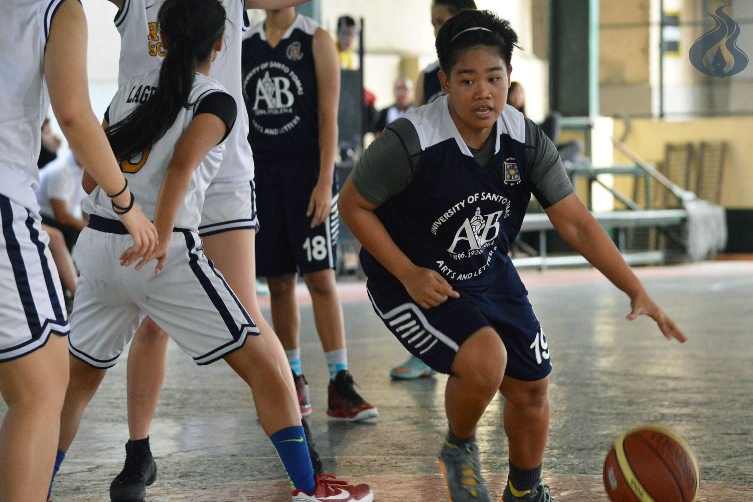 AB's star player Alaina Dimdam tries to penetrate CRS' defense. photo by JANINE C. PEREA