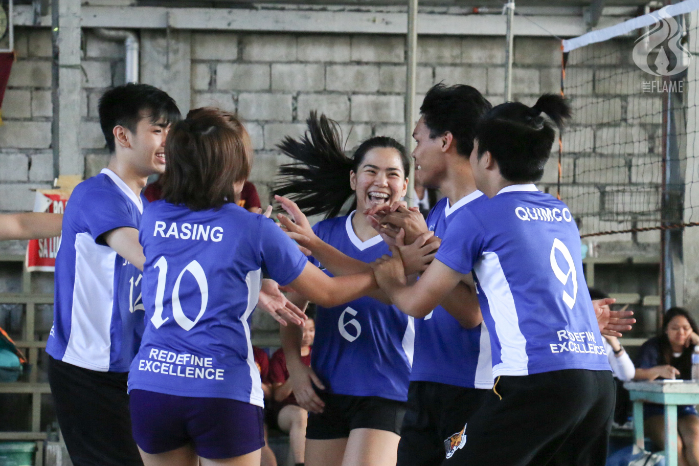 PolSci begins title defense bid edging SCL; LegMa, Eco, ELS, BES, SCL secure 1st wins in AB volleyball tourney