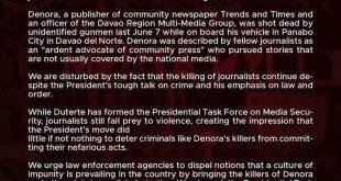 JournSoc condemns killing of Davao journo