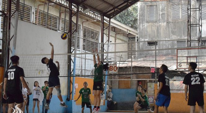 PolSci, BES, LM, CA, Journ bag opening games in Athena Cup volleyball tourney