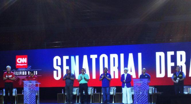 Senatorial candidates tackle Chinese 'debt trap', drug war in debate