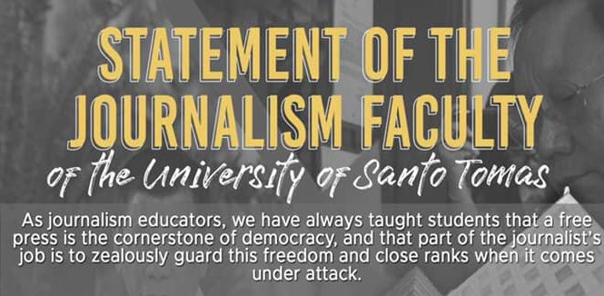 UST Journ Faculty denounce quo warranto vs ABS-CBN
