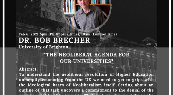 'Neoliberalism' is a denial of knowledge—professor